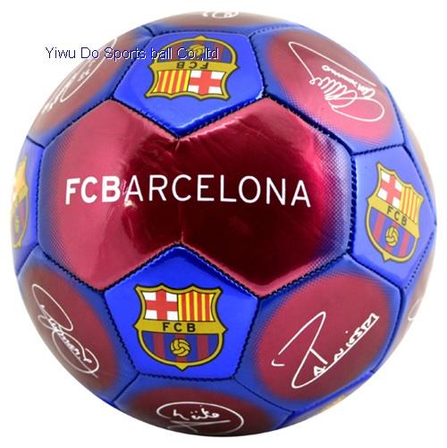 Barcelona F.C Football leatherette black size 5