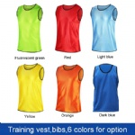 Hot sale soccer custom print training vest,reversible training vest,soccer & football training vest bibs