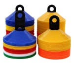 50 Agility Cones Pylons Disc Cones Perfect for Soccer Football Training