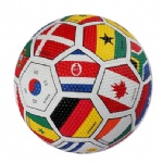 colorful rubber soccer ball football